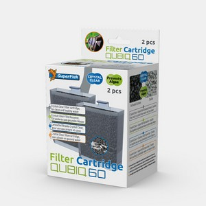 SuperFish Qubiq 60 Filter Cartridges pack of 2
