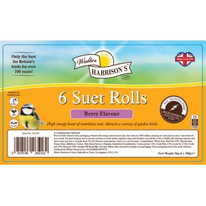 Walter Harrison's Suet Rolls with Berries 500g 6 pack