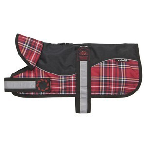 Outhwaites Padded Dog Coat Red Tartan 26cm