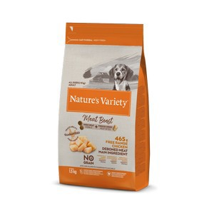 natures Variety Meat Boost Free Range Chicken Dog Food 1.5kg