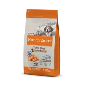 Natures Variety Meat Boost Salmon Dog Food 1.5kg