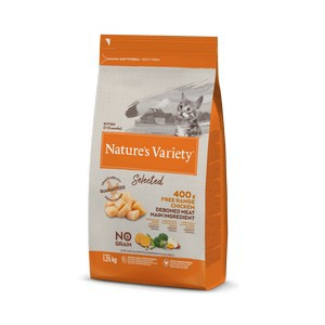 Natures Variety Selected Dry Kitten Free Range Chicken 1.25kg