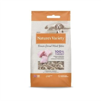 Natures Variety Freeze Dried Real Turkey Bites 20g