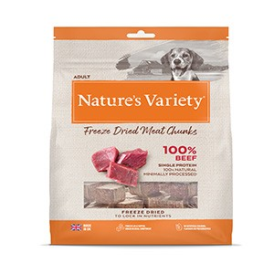 Natures Variety Freeze Dried Real Beef Chunks 200g