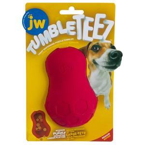 JW Tumble Teez Dog Treat Toy Medium Red