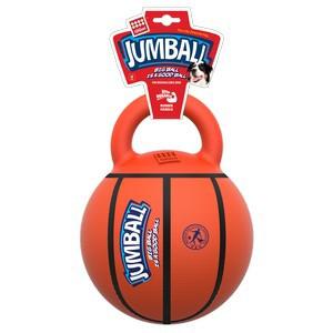 GiGwi Jumball  Basketball Ball with rubber handle Orange