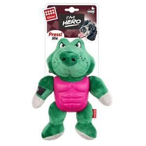 GiGwi I'm Hero Armor Alligator Plush with Squeaker