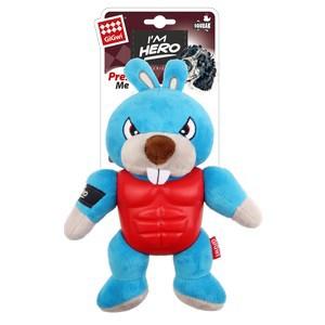 GiGwi I'm Hero Armor Rabbit Plush with Squeaker