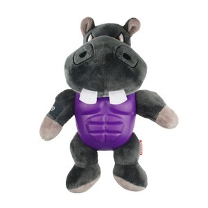 GiGwi I'm Hero Armor Hippo Plush with Squeaker