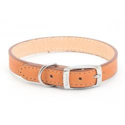 Handsewn Leather Dog Collar Tan 35-43cm size 4