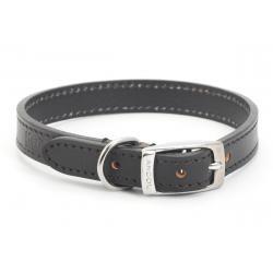 Handsewn Leather Dog Collar Black 28-36cm size 3